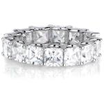 0.5 carat Sterling Silver Princess Cut Cubic Zirco