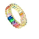 Gold Multicolor Eternity Ring