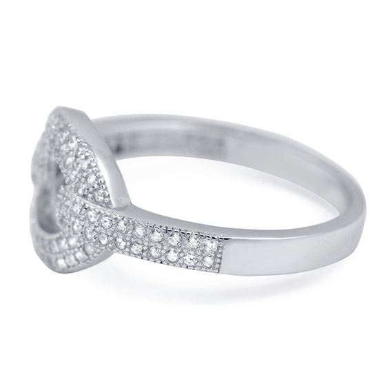 Modern Pave Cocktail CZ ring in sterling silver