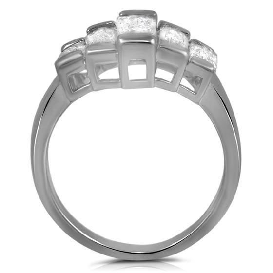 Baguette Cut CZ Fashion Statement Ring Emerald-2