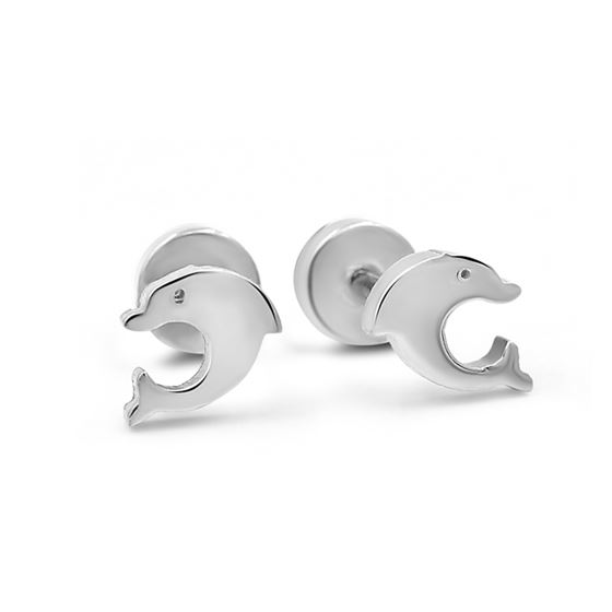 Small Dolphin Earrings for Gilrs Stainless Steel