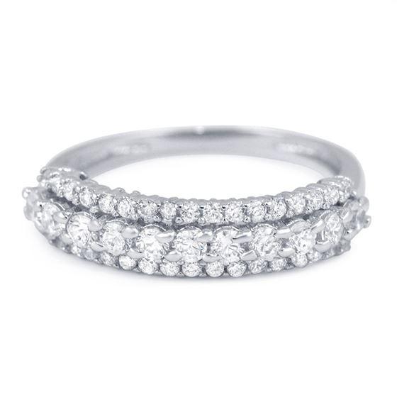 semi eternity cz wedding silver band