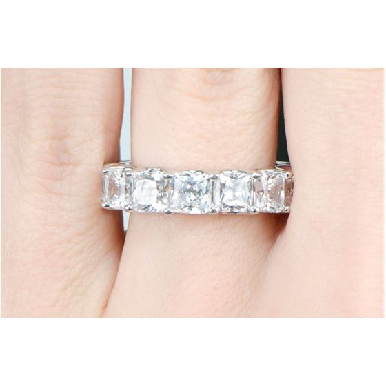 0.5 carat Sterling Silver Princess Cut Cubic Zir