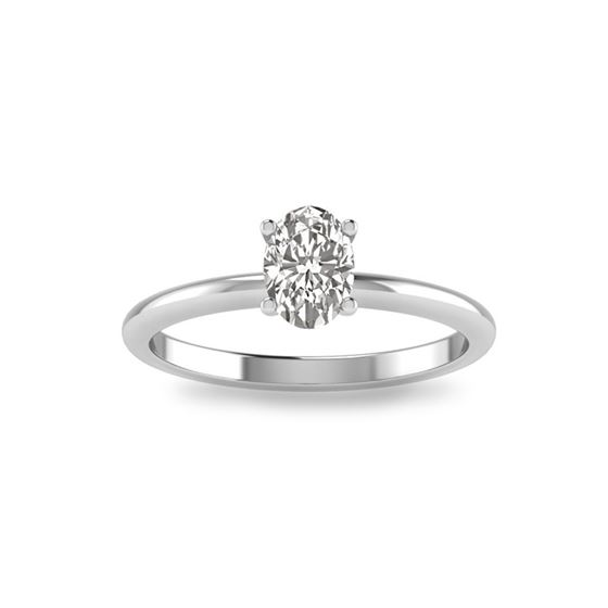 Oval Cut Solitaire Ring