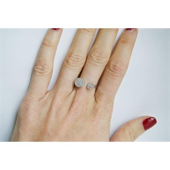 cubic zirconia mid fashion silver ring