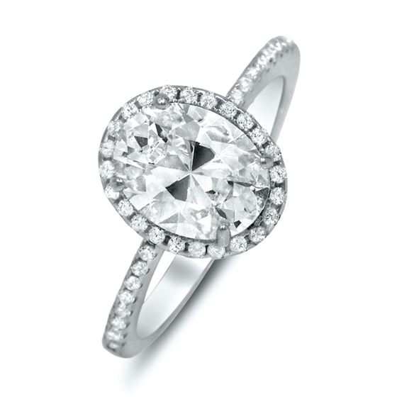 oval halo engagement ring 2.2 carat