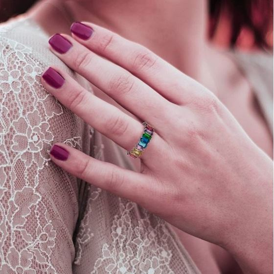 MultiColor Rainbow Ring Band