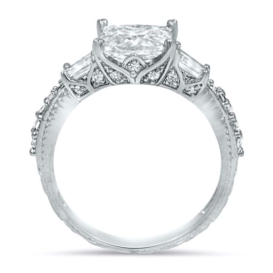 3 stone engagment cz ring