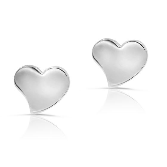 316L Surgical Stainless Steel Heart Safety Screwback Baby Girls Stud Earrings Studs, 8mm